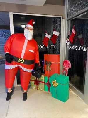 Santa Claus visits Sequoyah Elementary School