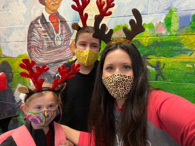 Students celebrate Holiday Headgear Day at Sequoyah Elementary School.
