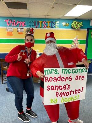 Santa Claus at Jefferson Elementary Schoo.