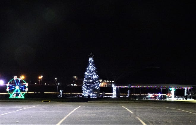 North Park in Jackson Township has several lighted exhibits along with the lighted Christmas tree along the walking trail lit up for the holiday season. Residents are encouraged to drive through the park to enjoy the lights.