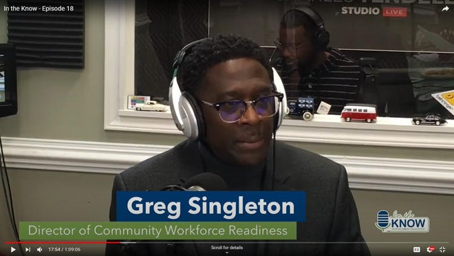 Craven CC Director of Community Workforce Readiness Greg Singleton discusses plans for the new Job Readiness Boot Camp in Vanceboro on one of the college's weekly podcasts. The new program will take place in the West Craven VFW building beginning Jan. 25. [CONTRIBUTED PHOTO]
