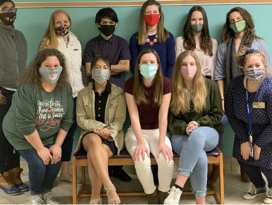 From left, Poetry Out Loud 2020 Judges and Student Contestants top to bottom are Tiana Greene, Kelly Leonhardt Griffin, Pedro Herrera Portillo, Ella Billingsley, Macy Stilley, Amanda Smith, Alison Strommer, Meh Tay, Savannah Belfance, Gracie McCarthy, and Megan Gill. [CONTRIBUTED PHOTO]
