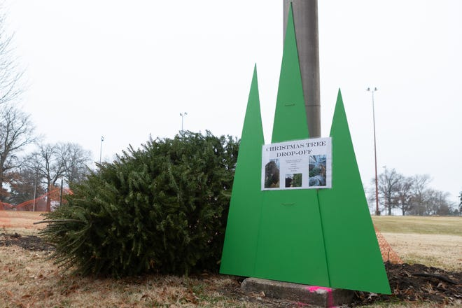 Christmas trees can be dropped off at Gage Park by the horseshoe courts to be donated to the Topeka Zoo.