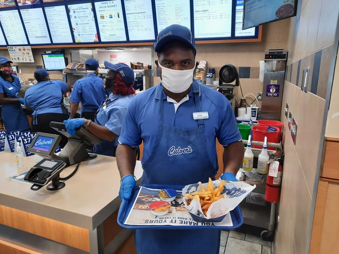 Gainesville Opportunity Center's member Joevan, 27, is pictured working at Culver's Restaurant, located in the Butler Plaza area. [Special to The Guardian]