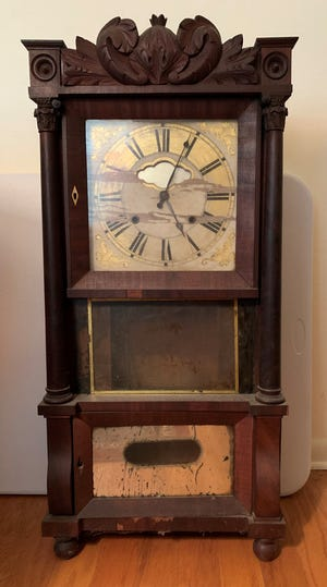A clock made by Chauncey and Lawson Ives Clocks in Bristol, Connecticut.