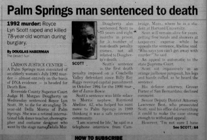 Royce Lyn Scott was sentenced to death in 1997.