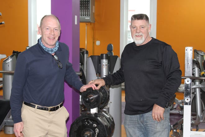 Bob Insley and Jeff Hyslip are opening a 24/7 gym, JB's Family Fitness, upstairs at 178 N. Main St. in the Village of Wellsville.