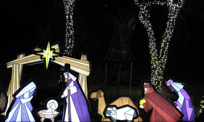 The story of the birth of Christ has been told at Winter Lightfest, a fundraiser for United Way of Abilene.
