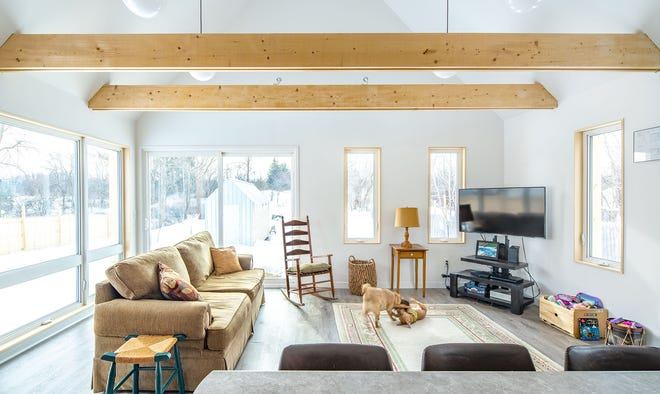 This high-performance, affordable house designed by Middlebury-based McLeod Kredell Architects (and built in Middlebury) won the top honor award in this year's competition held by the Vermont branch of American Institute of Architects.