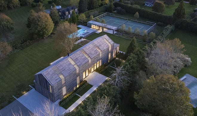 A home that features exterior lathing to combine privacy with light, was designed by Richmond-based Birdseye. Completed in 2020, the Sagaponak, New York home received an award for excellence in this year's American Institute of Architects/Vermont design competition.