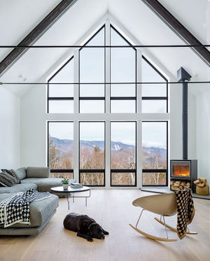 Space and an alpine view: A net-zero home in Warren, designed by Maclay Architects, was completed in 2020. The building received an award for excellence in this year's American Institute of Architects/Vermont design competition.