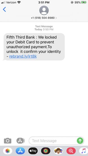 Scammers are targeting Fifth Third Bank customers with a text message scam.