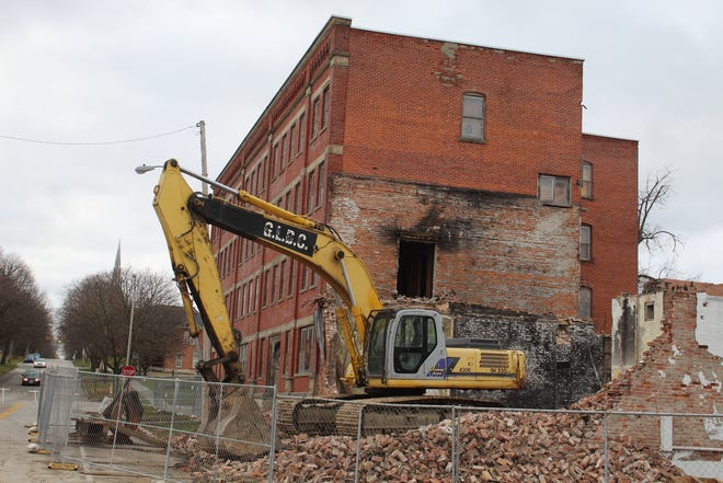 Demolition began this week at the city's Jackson Annex site. The city expects the site to be completely torn down by January.