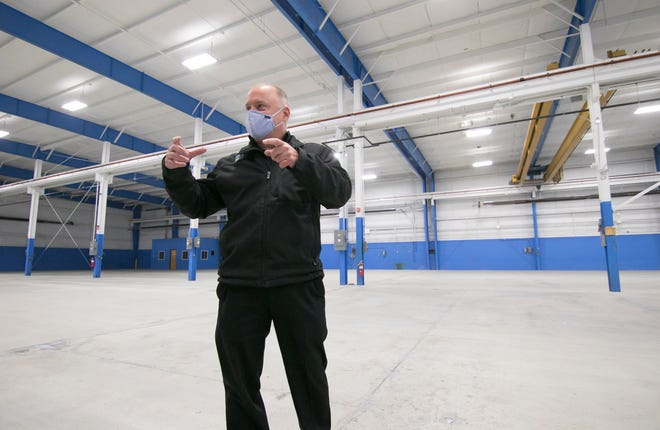 Promess president Glenn Nausley discusses plans for a 45,000-square-foot manufacturing facility the Brighton-based high-tech company purchased, shown Tuesday, Dec. 22, 2020.