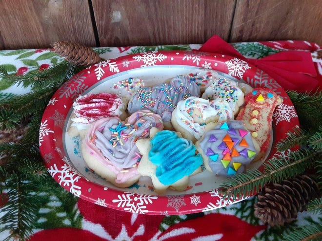 Cut-out Christmas cookies are a favorite in the Yoder household.