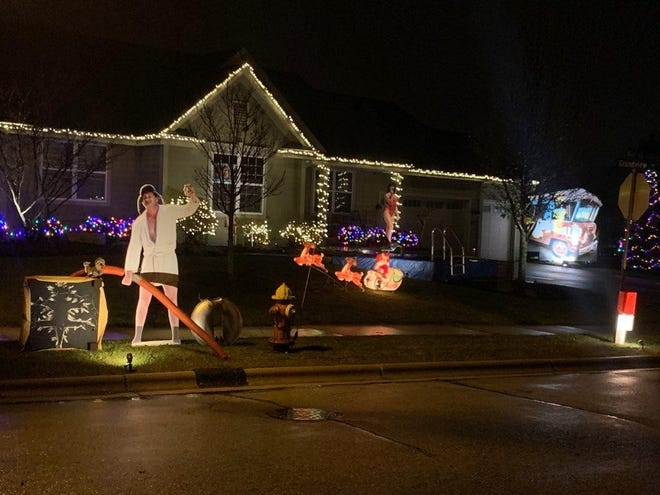 """Andy Jarr's favorite holiday film, """"National Lampoon's Christmas Vacation,"""" has been his inspiration for Christmas decorations since 2018."""