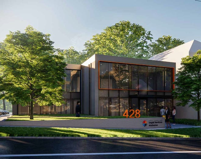 This rendering provided by Legal Services Alabama shows plans for their new headquarters at 428 S. Perry St.