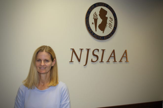 NJSIAA Chief Operating Officer Colleen Maguire at NJSIAA Headquarters in Robbinsville. The NJSIAA is the governing body for high school athletics in New Jersey.