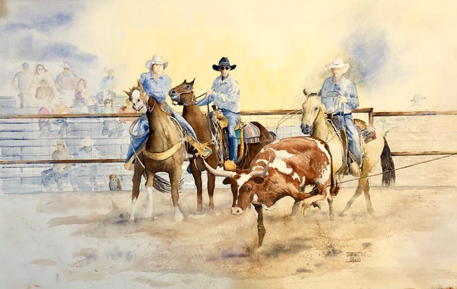 Local watercolor painter John Glass is the featured artist for the month of January at the Deming Art Center, 100 S Gold Street.