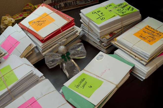 About 2,500 holiday cards were collected from the community for seniors living in aging and long-term care facilities in Doña  Ana County.