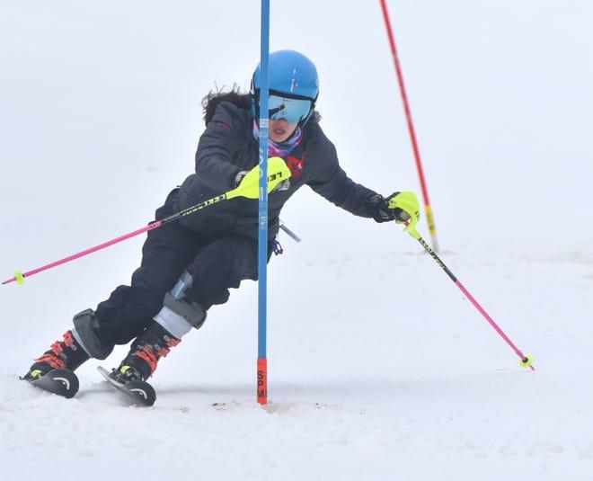 Milford ski team member Maddie Melody has played a major role for the Mavericks through their perfect 2021 season.