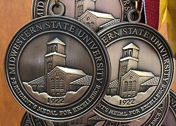 MSU Texas announced the recipients of the President's Medal of Excellence.