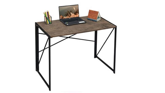 This desk is both stylish and functional.