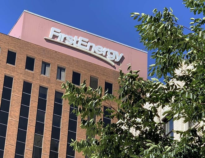 File photo: FirstEnergy Corp. headquarters at Cascade Plaza in downtown Akron.