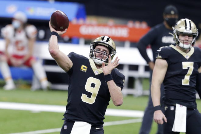 New Orleans Saints quarterback returned from injury last week. The Saints are battling the Tampa Bay Buccaneers for the NFC South title and face the Minnesota Vikings this week.