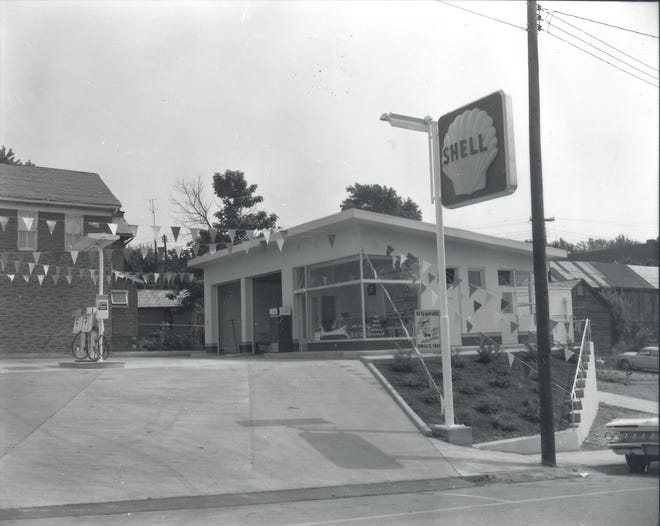 Enterprise editor Bill Davies snapped this photo of the new Shell service station just before it opened in August of 1960 -- 60 years ago.