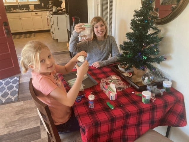 Samantha and Skylar Roland of Tillman baked cookies and put together decorating kits for families in need this holiday season.
