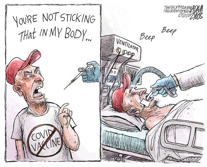 Editorial cartoon: COVID-19 vaccines