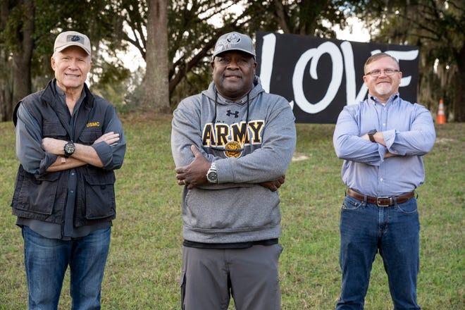 "Veterans George Wanberg, Theo Bob and Jonathan Pearson were instrumental in starting the group ""Veterans United"" to bridge the gap between racial differences among Christians and veterans."