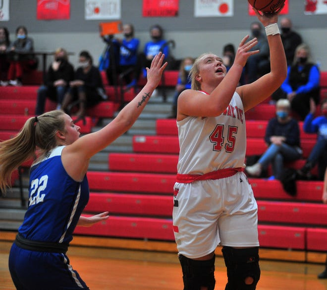 Norwayne's Kenndey Kay puts up a shot during the Bobcats' 58-47 win over Chippewa on Tuesday night.