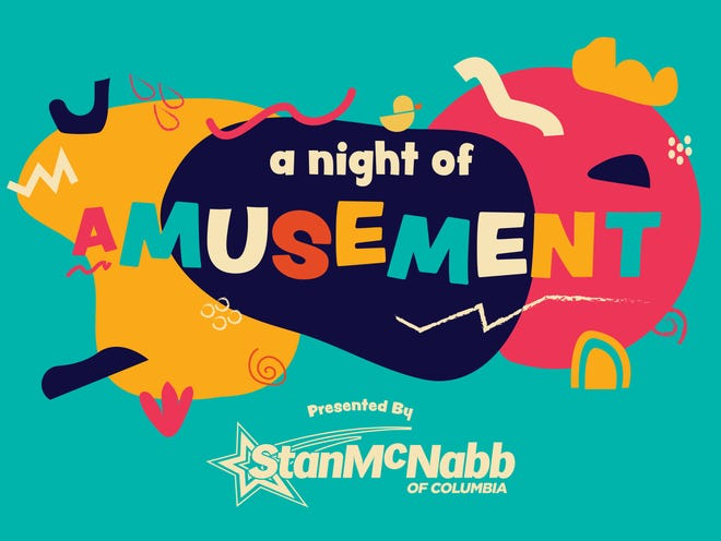 """Logo design for aMuse'um's New Year's Eve """"A Night of aMusement"""" Fundraiser, designed by local graphic designer Bryson Leach."""