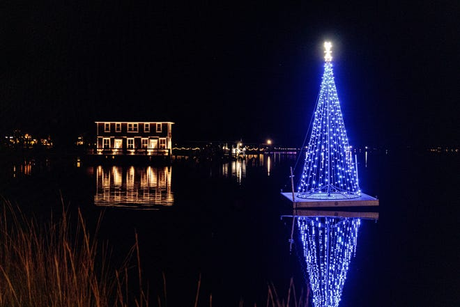 Holiday lights on the Halifax River in Ormond Beach. Festive outdoor lighting is one holiday tradition that isn't curtailed by the pandemic.
