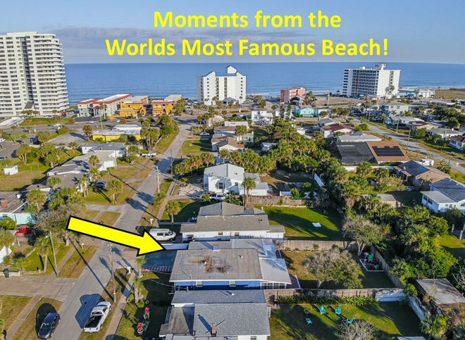 This Daytona Beach residence, just steps from the ocean, has been completely remodeled within the past three years.