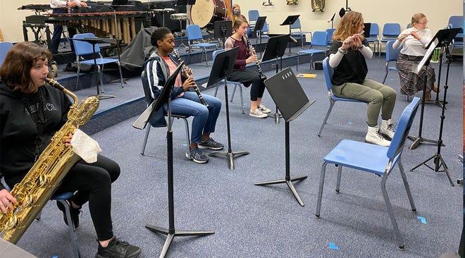 The woodwind ensemble its part of the Greencastle-Antrim High School winter concert on Dec. 14.