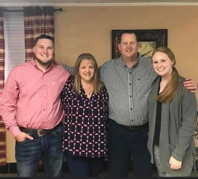 The Hancock family, from left, Carter, Wendy, Marcus and Kendal.