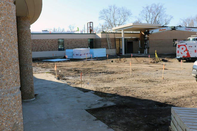 Work progresses on the Earl Lawson Early Education Center. The former Earl Lawson Elementary School is being converted into the Early Education Center, which will house prekindergarten and kindergarten classes for Leavenworth public schools.