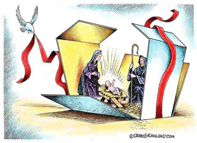 Dave Granlund cartoon on Christmas present