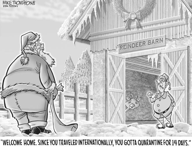 No exceptions for Santa: A cartoon by Mike Thompson