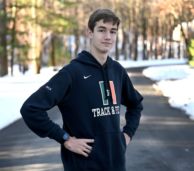 Hopkinton High senior and runner Nick Brown was named TVL MVP of his pod this fall for cross country.