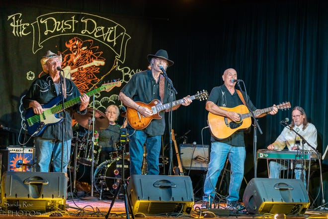 The Dust Devil Band will perform a virtual show at 10:45 p.m. tonight, Thursday, Dec. 31, at www.unityhall.com.