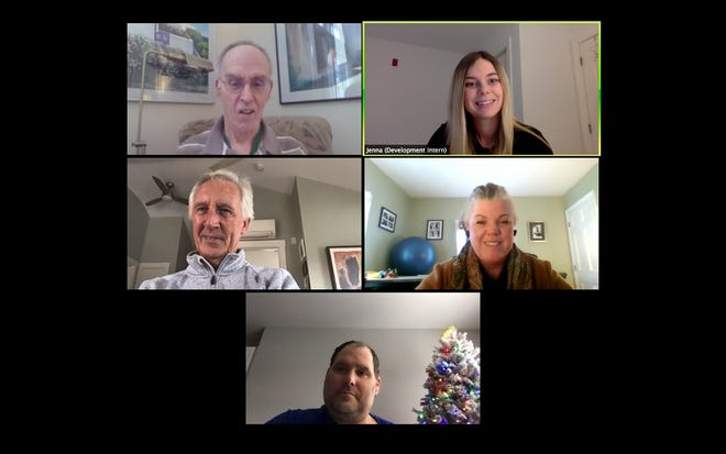 Krempels Center members continue meditating together on Wednesdays using the video platform Zoom during the pandemic.