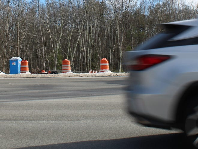 Traffic zips along U.S. Route 1 in York, Maine, on Dec. 23, 2020, but cars still cannot turn onto the newly built Short Sands Road because the intersection still doesn't have a traffic signal.