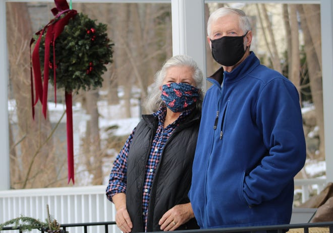 Kim and Barry Waddell, pictured here at their home in York, Maine, are among tens of thousands of volunteers participating in an AstraZeneca clinical trial for a COVID-19 vaccine candidate that could become the third approved for widespread distribution.