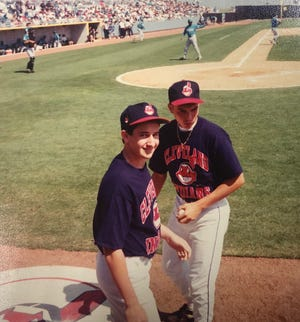 Les Evans' son, Boca Raton real estate attorney Jason Evans, pictured at left, was an Indians bat boy for a few spring trainings. This picture was from the spring of 1993 at a game against the expansion Florida Marlins.
