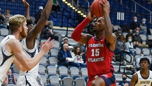 FAU senior forward Jailyn Ingram, shooting during Monday night's win over Florida College, led the team with a season-high 26 points.