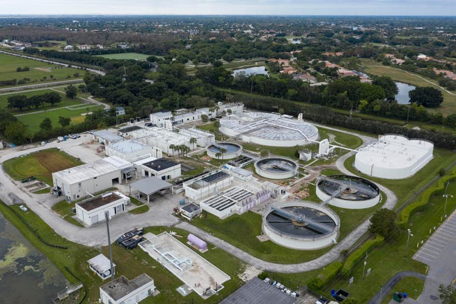 The Wastewater Treatment Plant in Wellington, Florida on December 19, 2020. (GREG LOVETT/PALM BEACH POST)